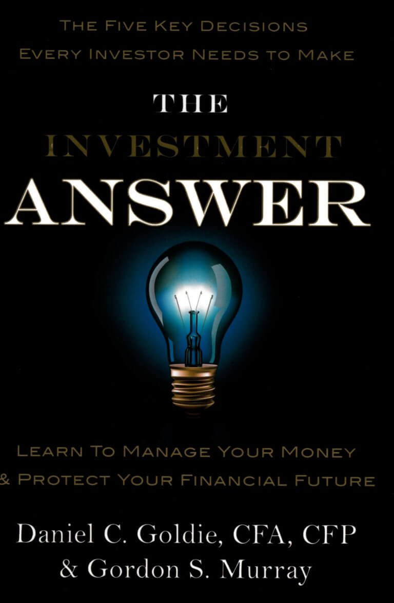 the investment answer by gordon murray and daniel goldie book cover